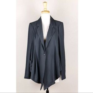 Elizabeth&James Grey Blue Sweater Cardigan Blazer